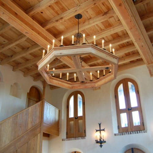 gorgeous custom interior and chandelier by Lowcountry Builder, Madigan Projects