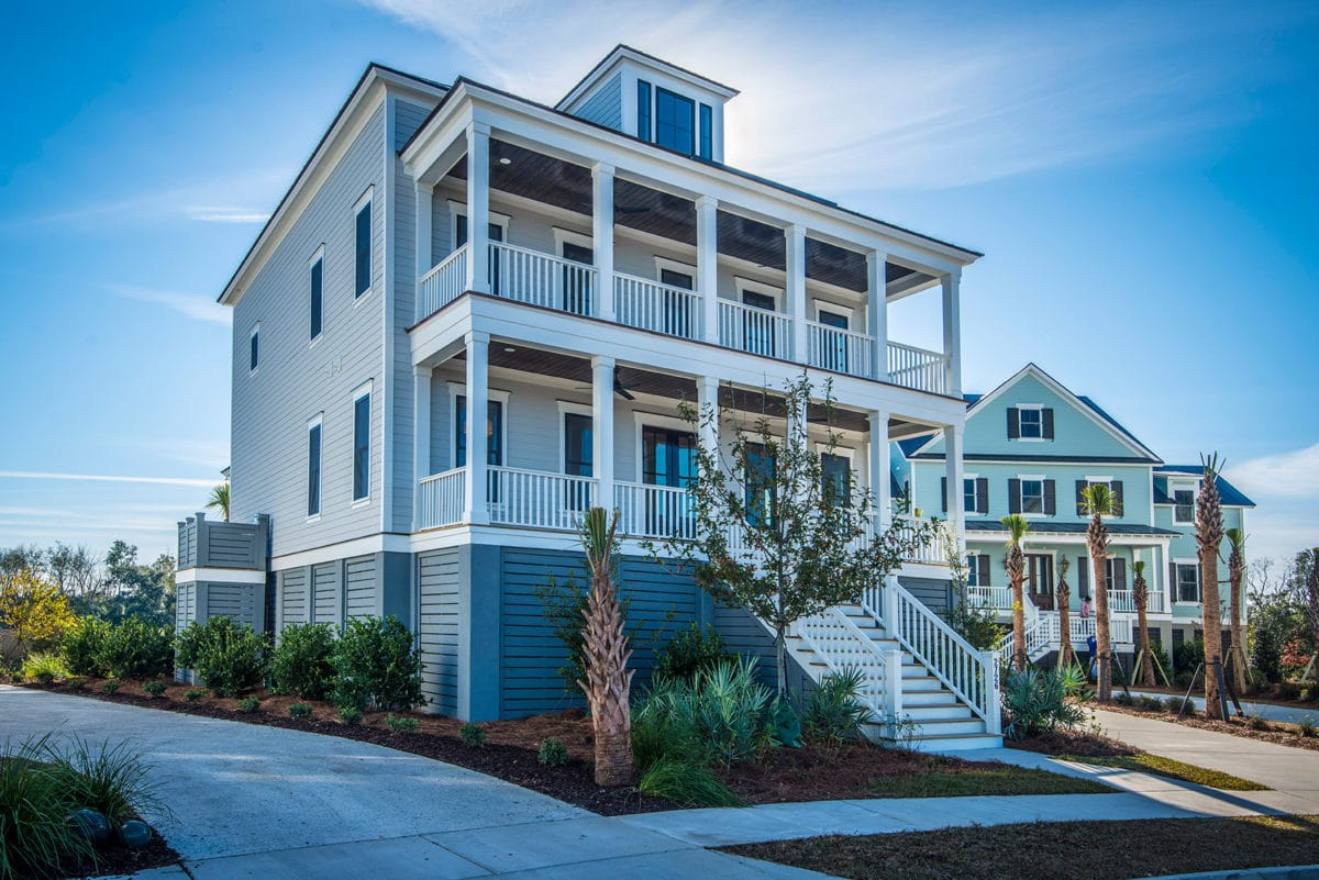 front shot of custom home designed by lowcountry builder Cline Homes