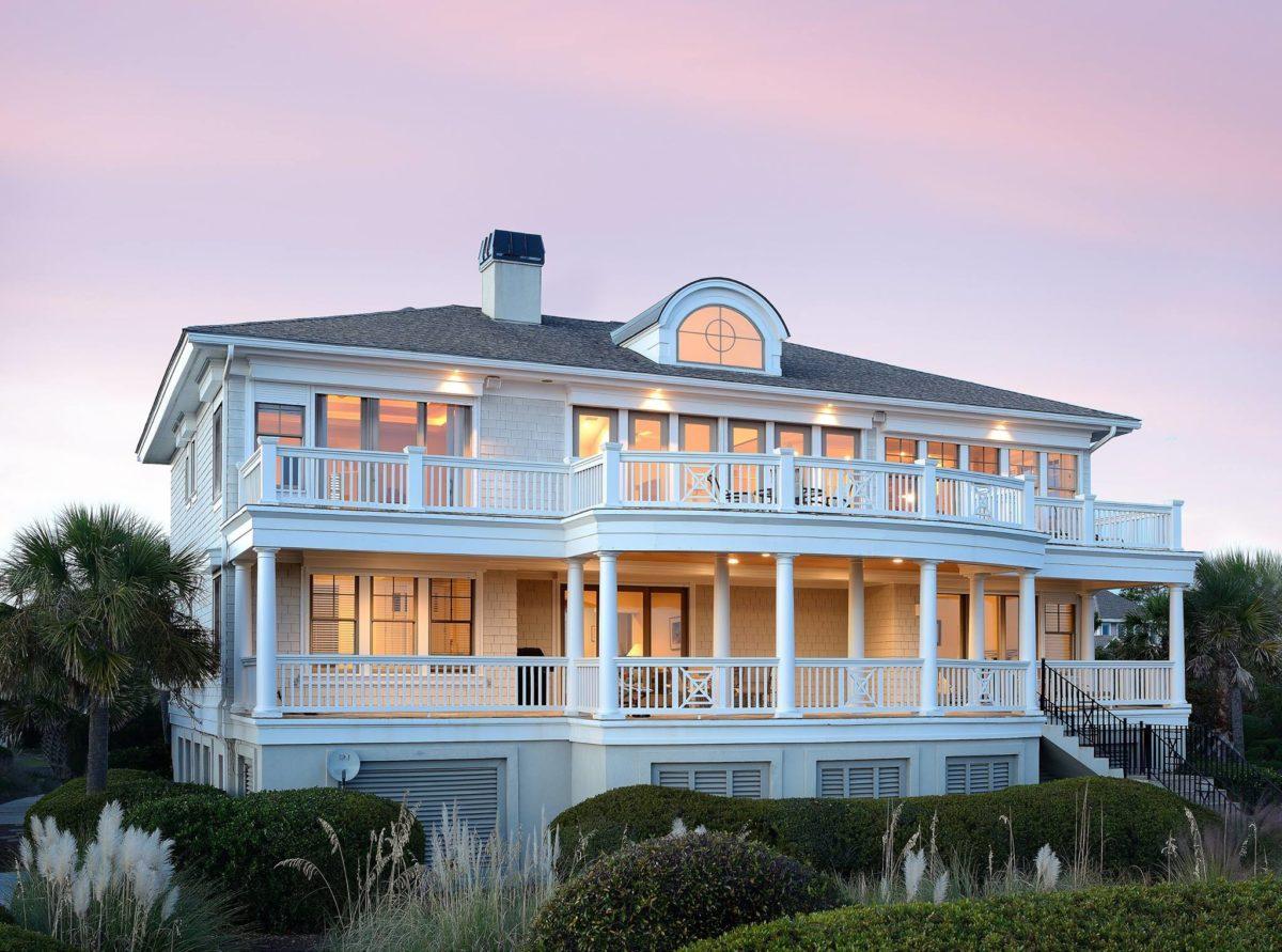 elevation of brand new custom home built by Seaside Custom Home Builders