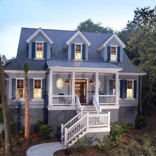 exterior shot of custom home built by Seaside, a Lowcountry Home Builder