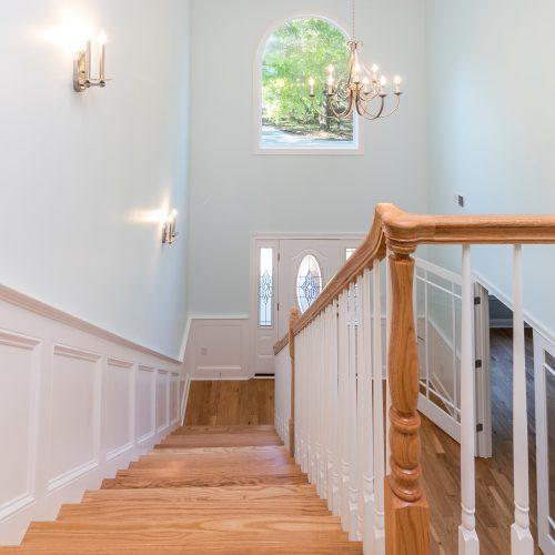 custom stairway designed and built by Rooke Custom Home Builders of Lowcountry Builder