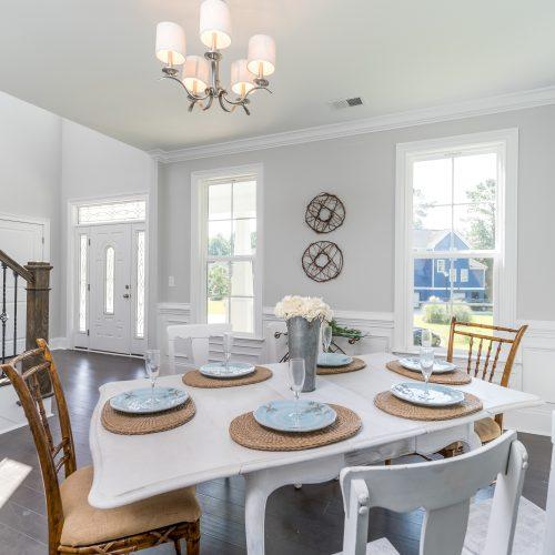 custom interior design dining room built by Rooke Custom Home Builders in Charleston