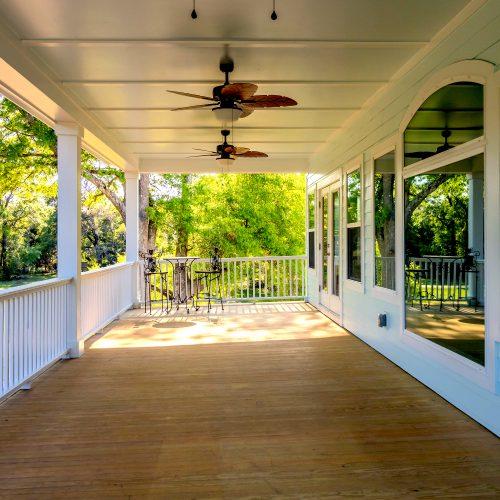 custom porch built by lowcountry builder Rooke Custom Home Builders in Charleston