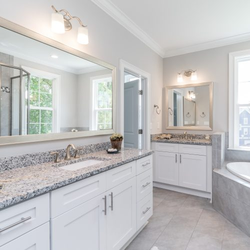 custom bath design built by Rooke Custom Homes, a lowcountry residential builder