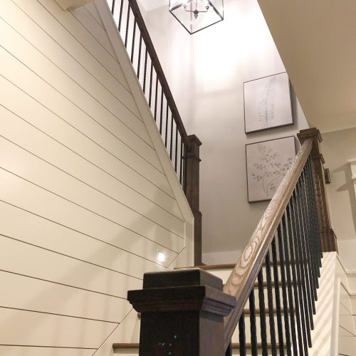 new staircase in custom home by Lowcountry Builder Meritus Signature Homes